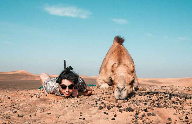 Camel, Man, Fun, Travel